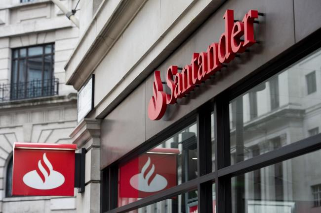 File photo dated 14/02/15 of Santander signage above a branch. Santander is to close 140 branches in the UK, putting more than 1,200 jobs at risk, following a slump in the number of transactions it handles. PRESS ASSOCIATION Photo. Issue date: Wednesday J