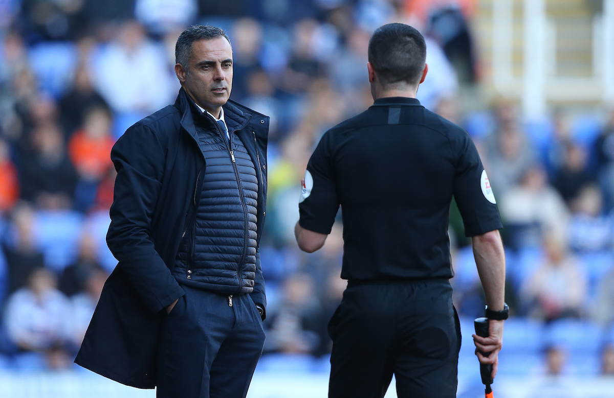 Reading manager Jose Gomes.