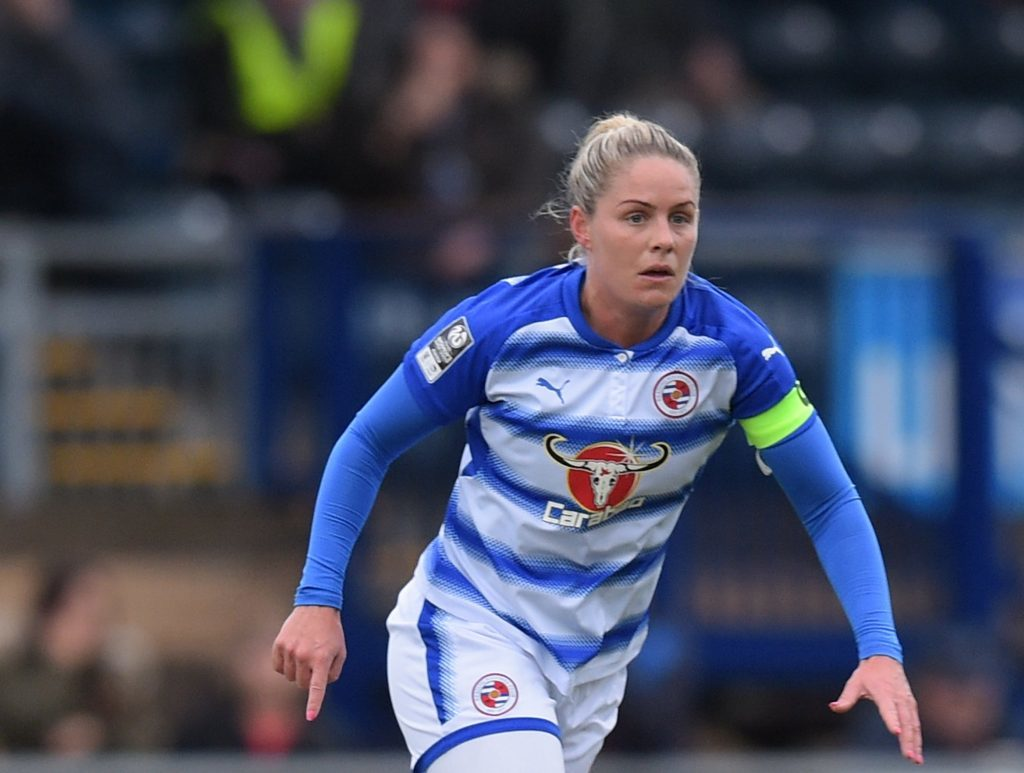 Kirsty Pearce scored late for Reading FC to set up a nervy finish.