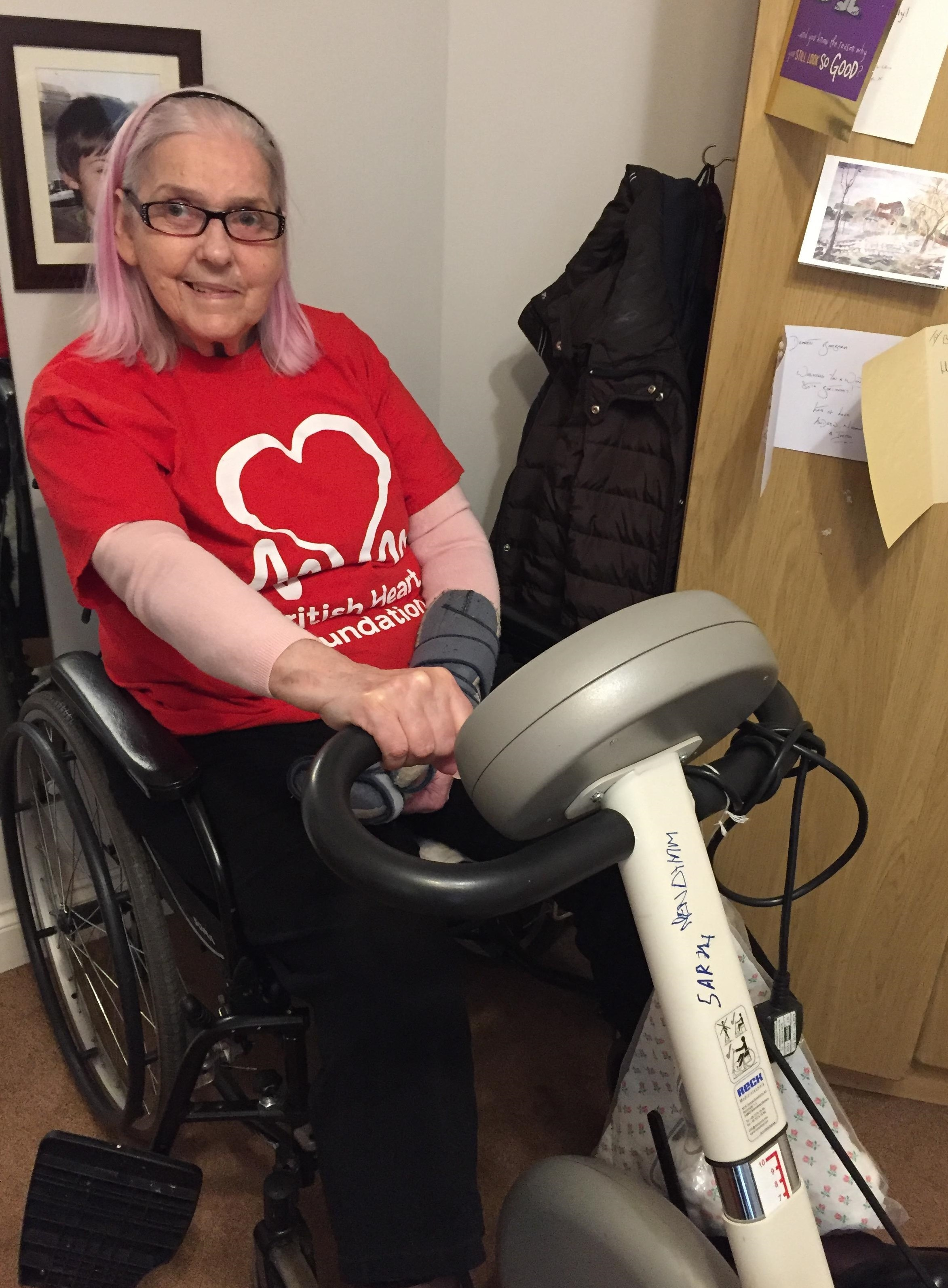 Barbara Small who is fundraising for British Heart Foundation