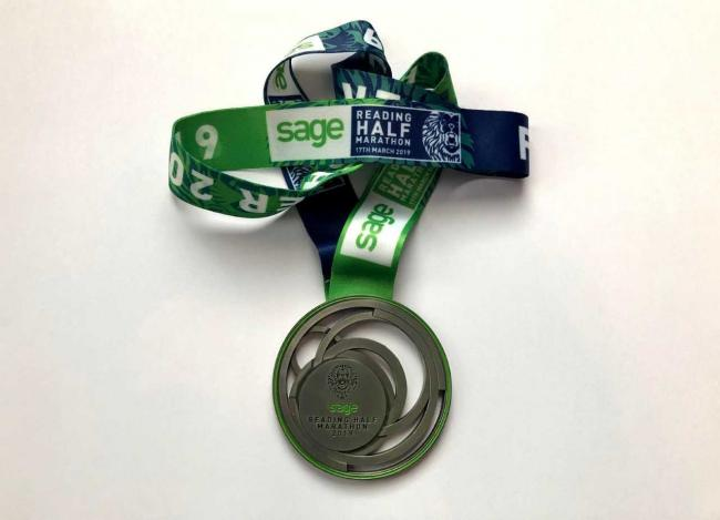This is the medal waiting for all those who cross the finish line