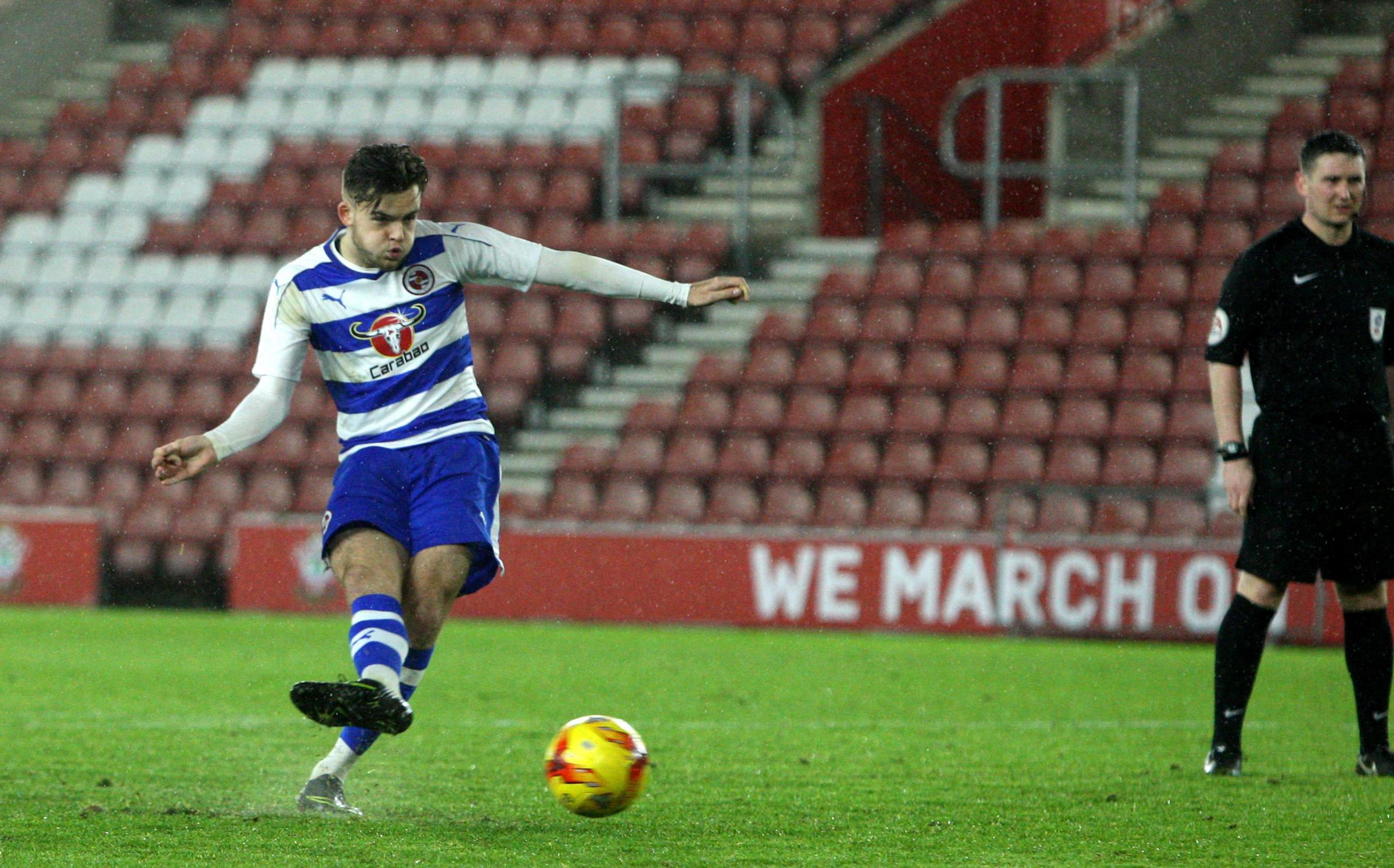 Tyler Frost pulled a goal back late on for Reading Under-23s in the 3-1 defeat against Bayern Munich II in the semi-finals of the Premier League International Cup on Monday.