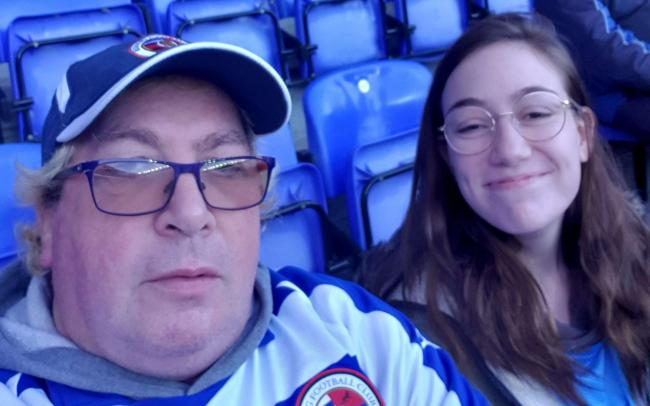 Kevin and his daughter Leah at a Reading FC game