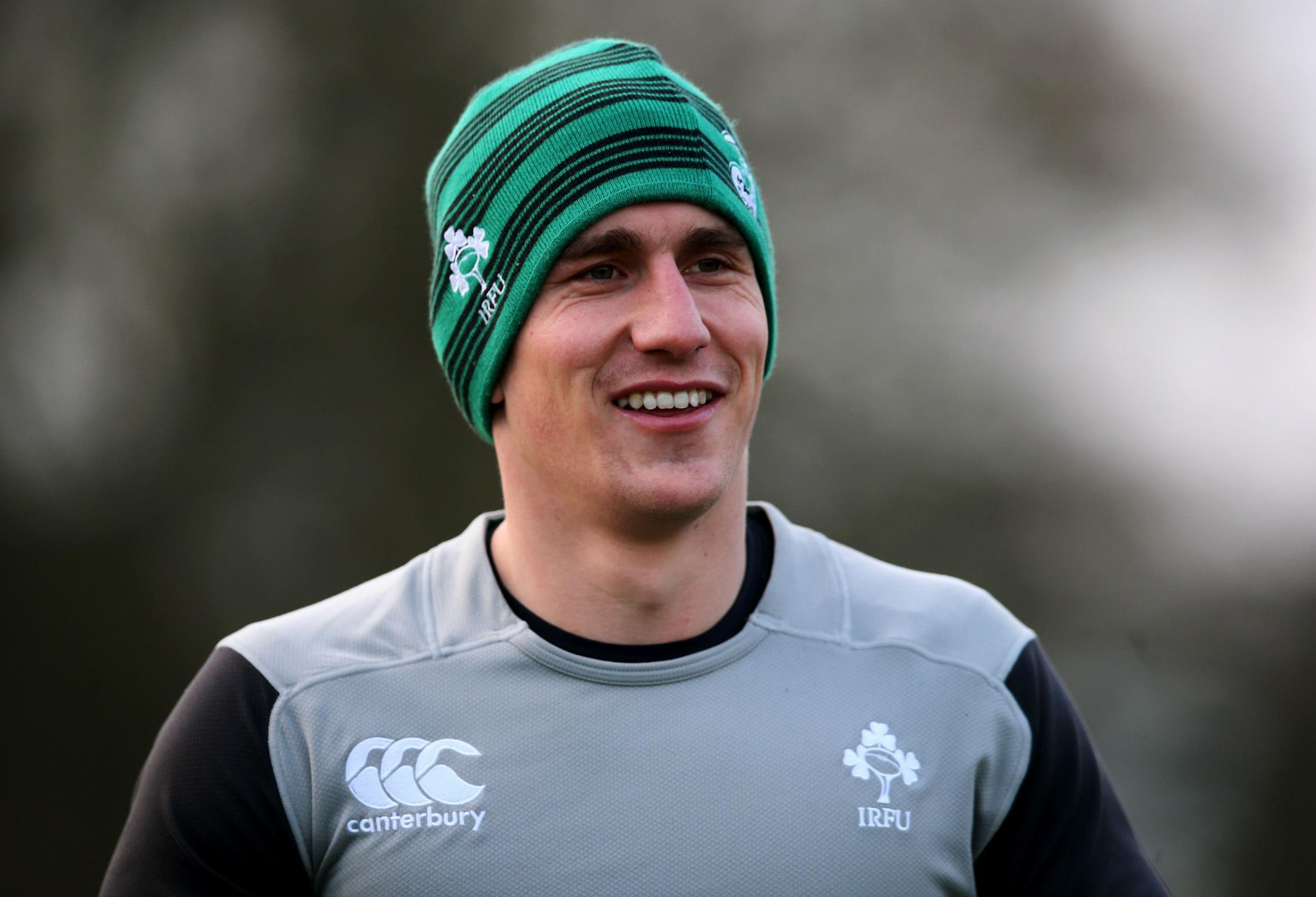 Ireland's Ian Keatley during training at Carton House, Co. Kildare, Ireland. PRESS ASSOCIATION Photo. Picture date: Thursday February 5, 2015. See PA story RUGBYU Ireland. Photo credit should read: Brian Lawless/PA Wire. RESTRICTIONS: Editorial use on