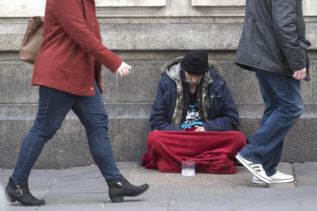 File photo dated 25/01/18 of a homeless person outside Victoria Station in London. Calls have been made to tackle the rough sleeping crisis after campaigners claimed one homeless person is dying on average every 19 hours..