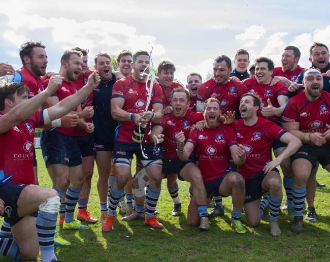 Rams (red) were crowned National Two South champions after beating Clifton 45-21   Pictures by Paul Clark and Tim Pitfield