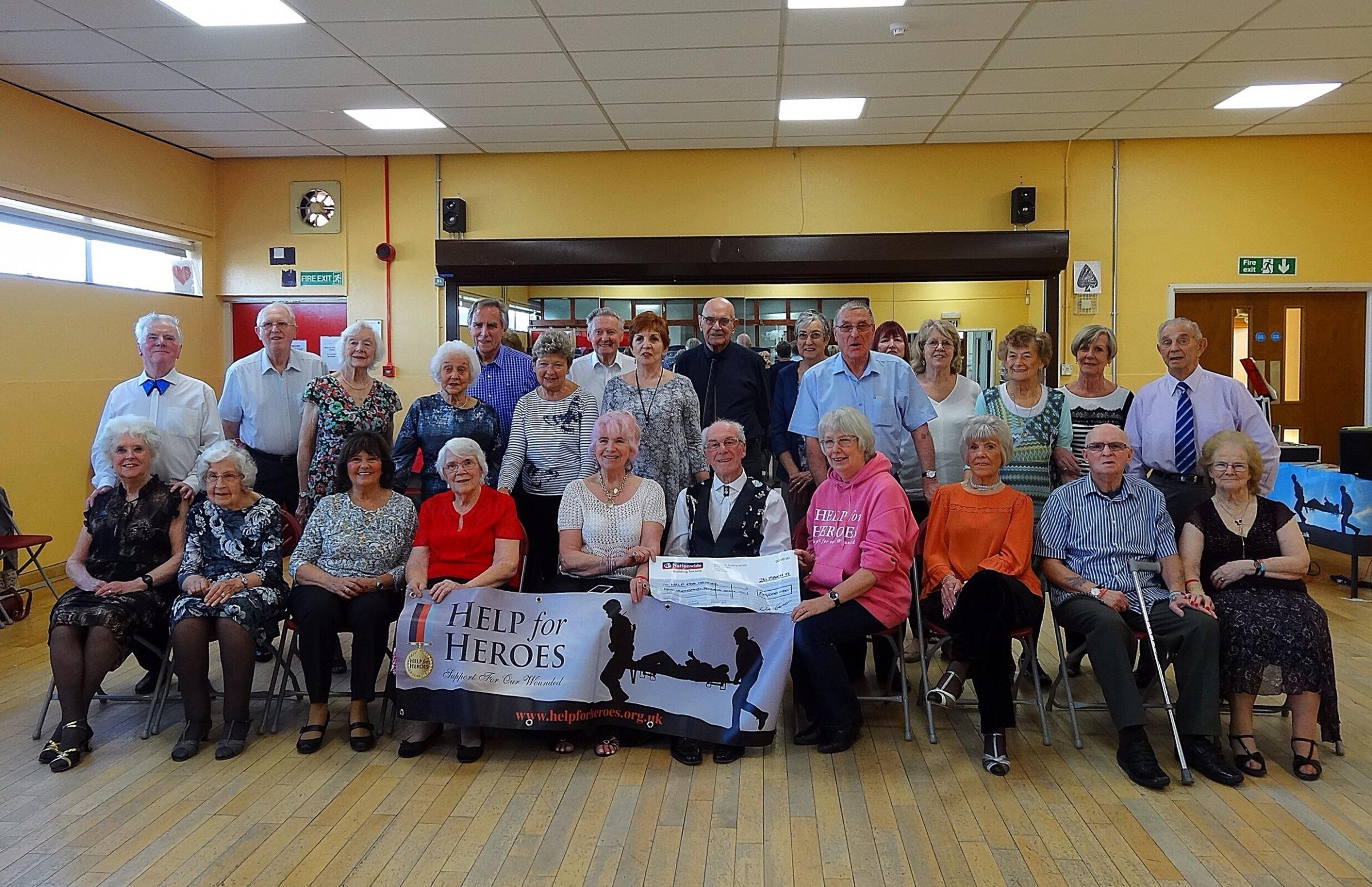 Members at Denton Dancing & Social Club continue to do their bit for charity