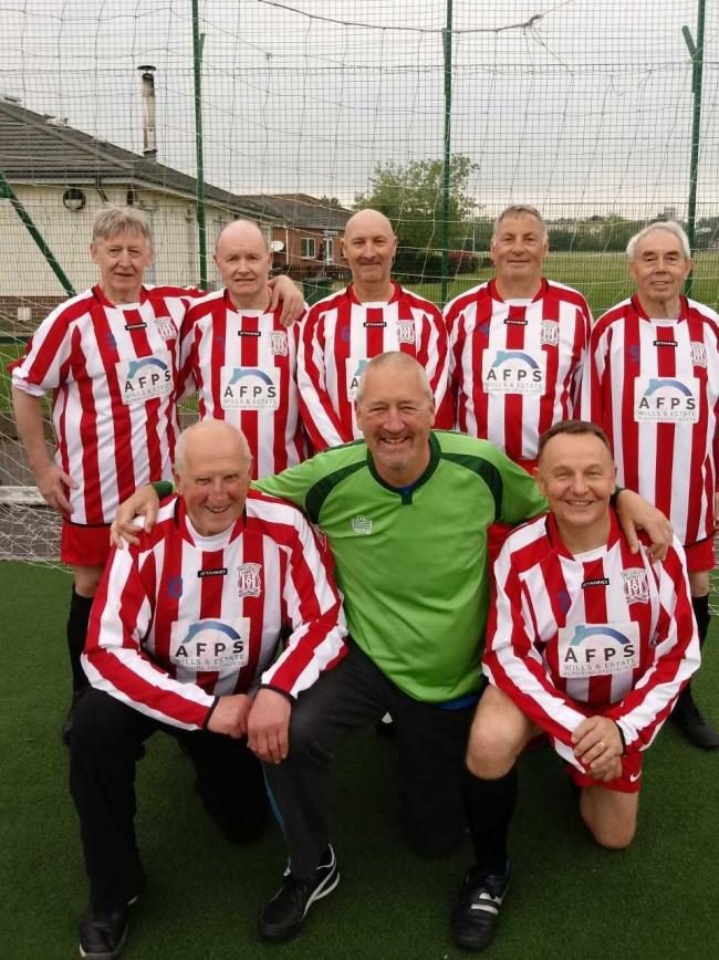 Woodley Saints Vets  reached the semi-finals of the AGE UK Over-60s walking football tournament in Maidenhead