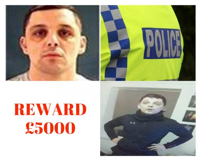 'High risk' violent escaped convict could be in Reading - £5,000 REWARD